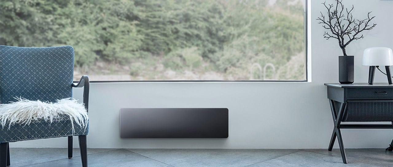 Clip On glass NOBO. Γυάλινη πρόσοψη σε τρεις χρωματισμούς για τους θερμοπομπούς Nobo
